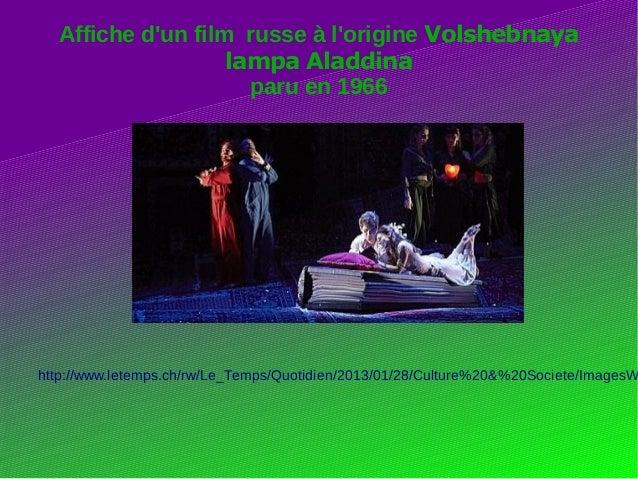 Affiche d'un film russe à l'origine Volshebnaya lampa Aladdina paru en 1966 http://www.letemps.ch/rw/Le_Temps/Quotidien/20...