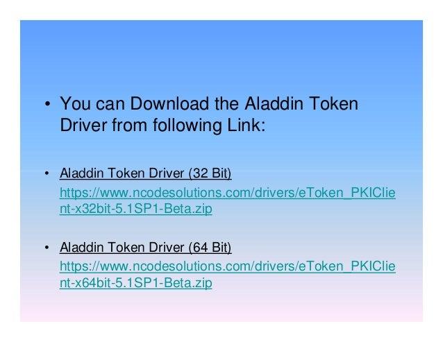 Aladdin etoken pro drivers download update aladdin software.