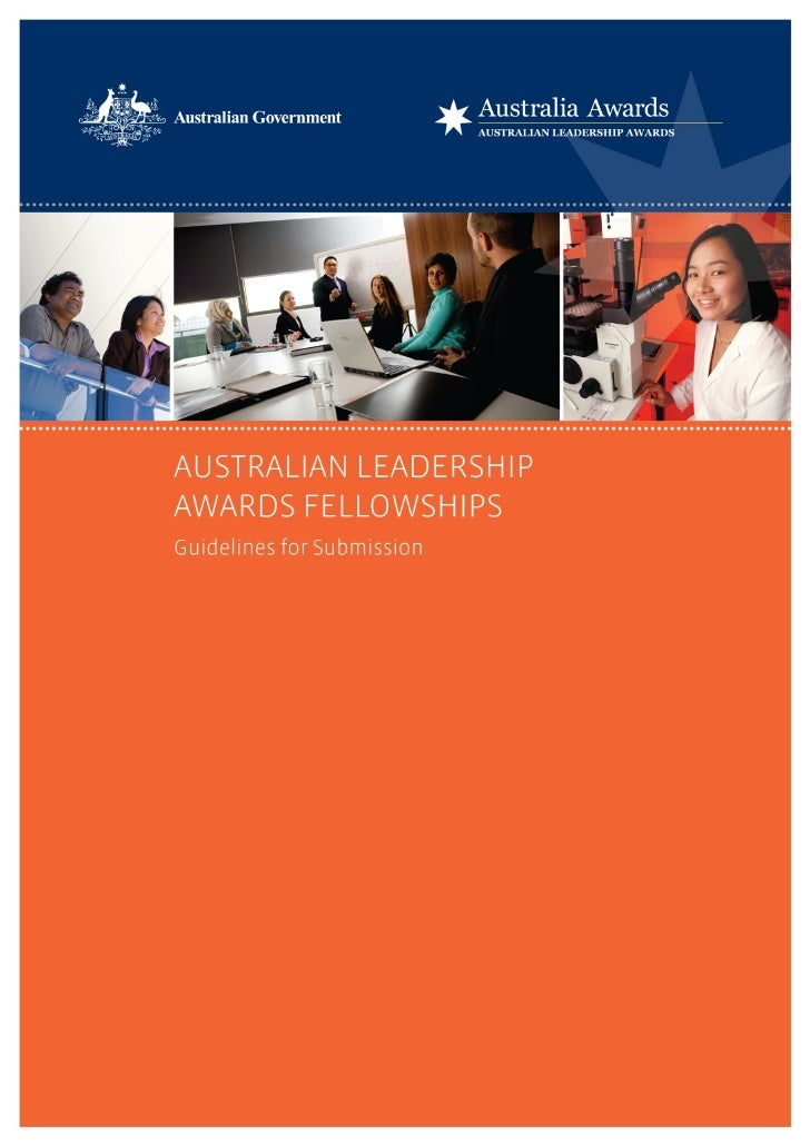Australian Leadership Awards Fellowships – Round 11 Guidelines for Submissions