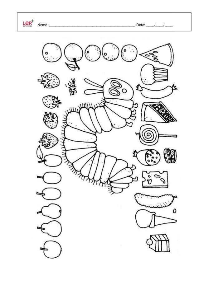 A lagartinha comilona desenhos para pintar