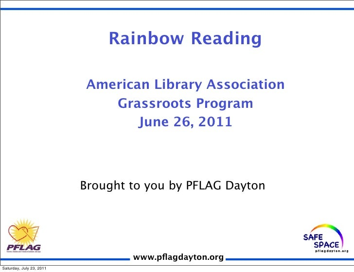 Rainbow Reading                          American Library Association                             Grassroots Program      ...