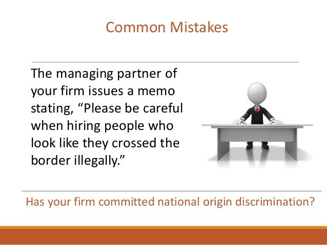 """Common Mistakes The managing partner of your firm issues a memo stating, """"Please be careful when hiring people who look li..."""
