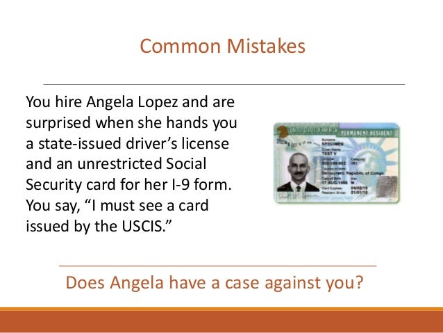 Does Angela have a case against you? Common Mistakes You hire Angela Lopez and are surprised when she hands you a state-is...