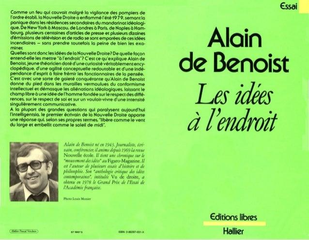 Alain de benoist les idees a l'endroit (clan9 europe nouvelle droite nationalisme identitaire)