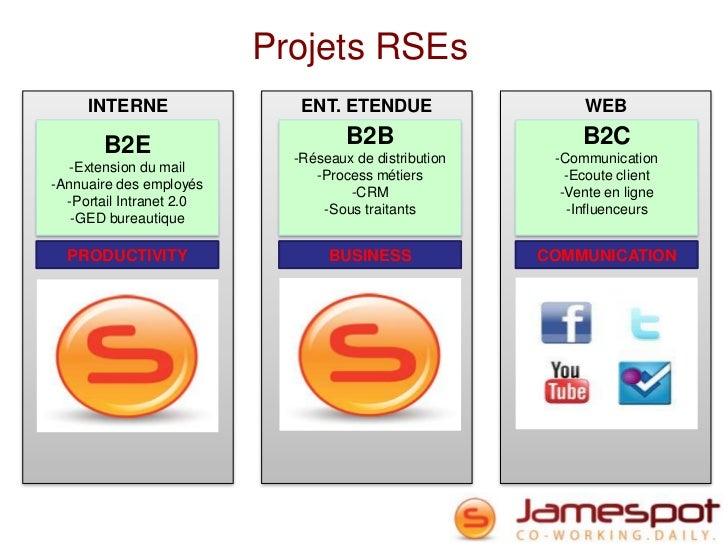Projets RSEs     INTERNE                 ENT. ETENDUE                   WEB       B2E                          B2B        ...