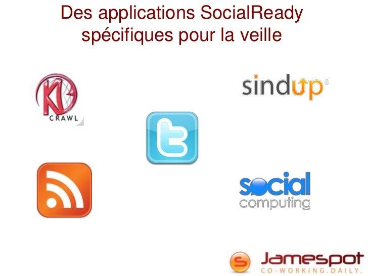 Des applications SocialReady  spécifiques pour la veille