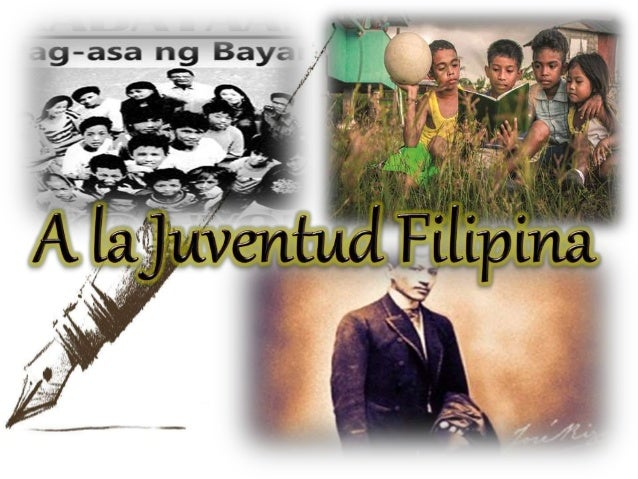 "reaction la juventud filipina a poem My personal reaction about the poem then followscaption (a la juventud filipina) 40 comments on """"to the filipino youth"" (literature review."