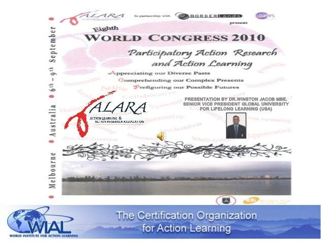 PRESENTATION BY DR.WINSTON JACOB MBE. SENIOR VICE PRESIDENT GLOBAL UNIVERSITY FOR LIFELONG LEARNING (USA)