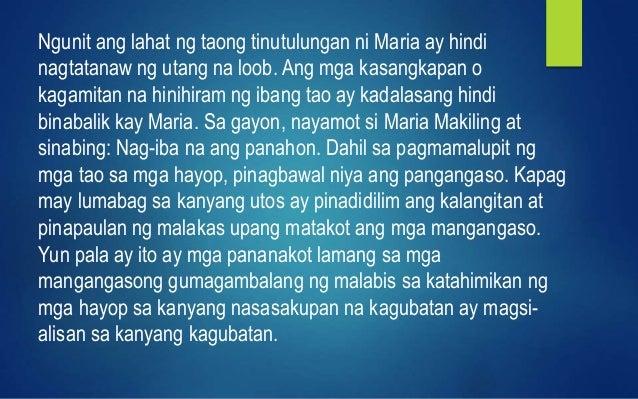 Filipino 8 Alamat ni Maria Makiling