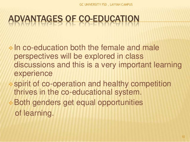 disadvantages of single sex education essays A good education system works towards creating gender equality here we have mentioned the importance, advantages and disadvantages of co-education system.
