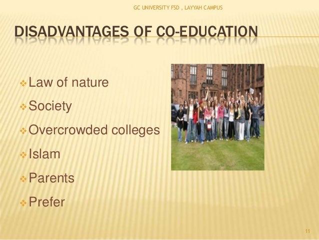 disadvantages of co education according to islam