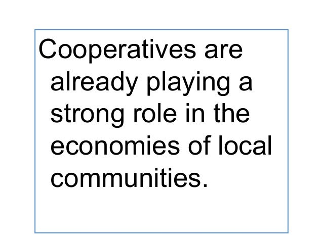 Role of Cooperatives in Socio-economic Development?