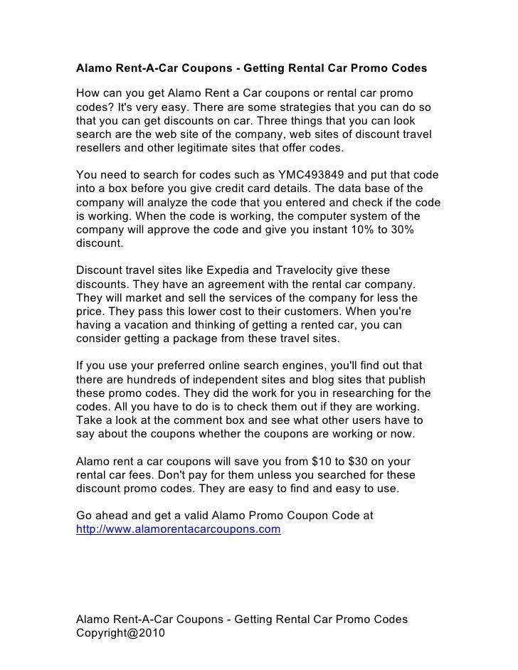 Alamo Car Rental Coupon Codes