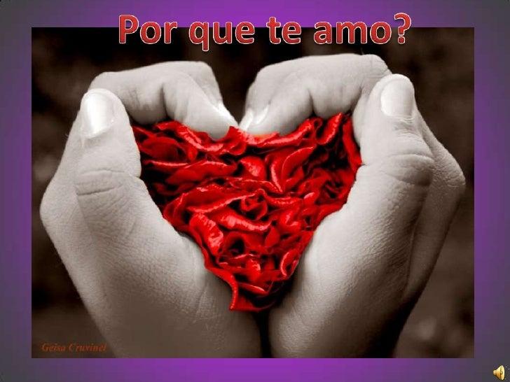 Por que te amo?<br />