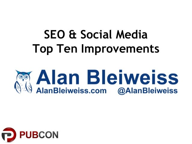 SEO & Social MediaTop Ten Improvements