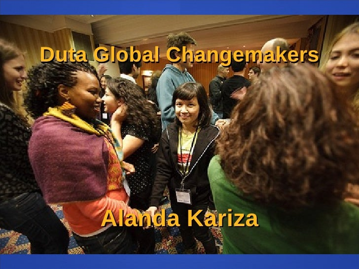 Duta Global Changemakers Alanda Kariza