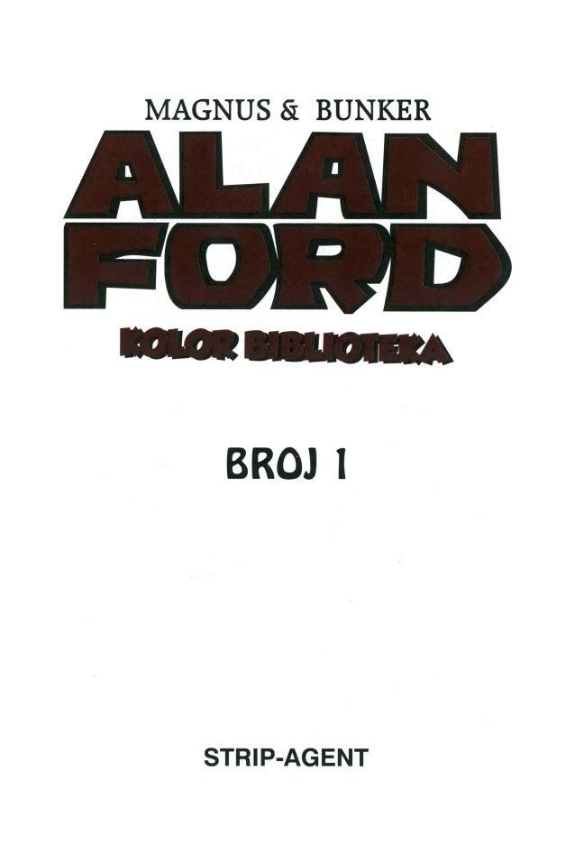 Broj Jedan Alan Ford Alan Ford Kb01 Broj Jedan Alan Ford
