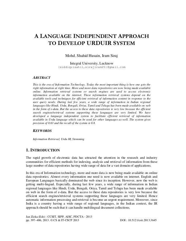 Jan Zizka (Eds) : CCSIT, SIPP, AISC, PDCTA - 2013 pp. 397–406, 2013. © CS & IT-CSCP 2013 DOI : 10.5121/csit.2013.3645 A LA...