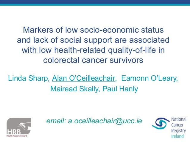 Markers of low socio-economic status and lack of social support are associated with low health-related quality-of-life in ...