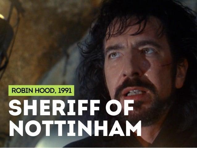 ROBIN HOOD, 1991 SHERIFF OF NOTTINHAM