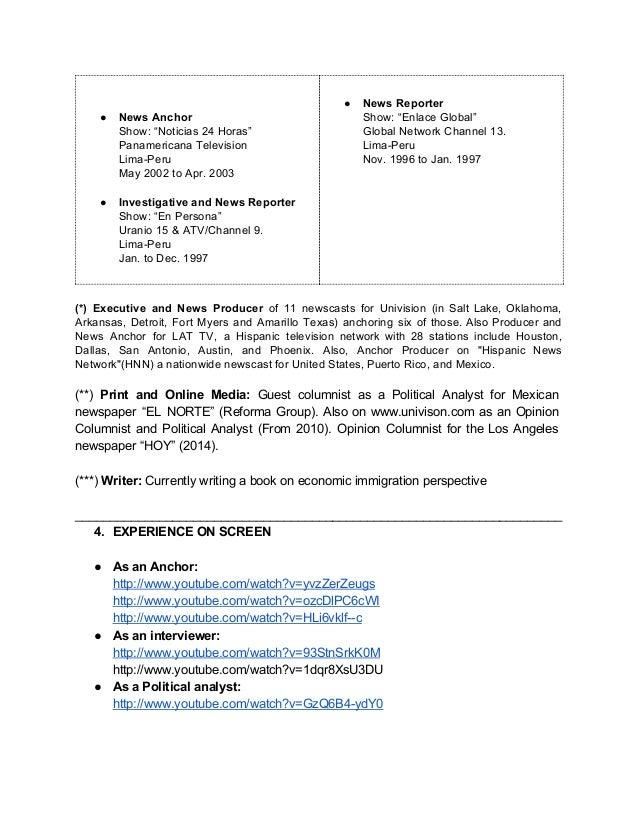 alan rivera prieto resume 2016 tv producer resume