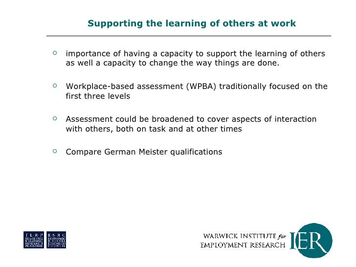 <ul><li>importance of having a capacity to support the learning of others as well a capacity to change the way things are ...