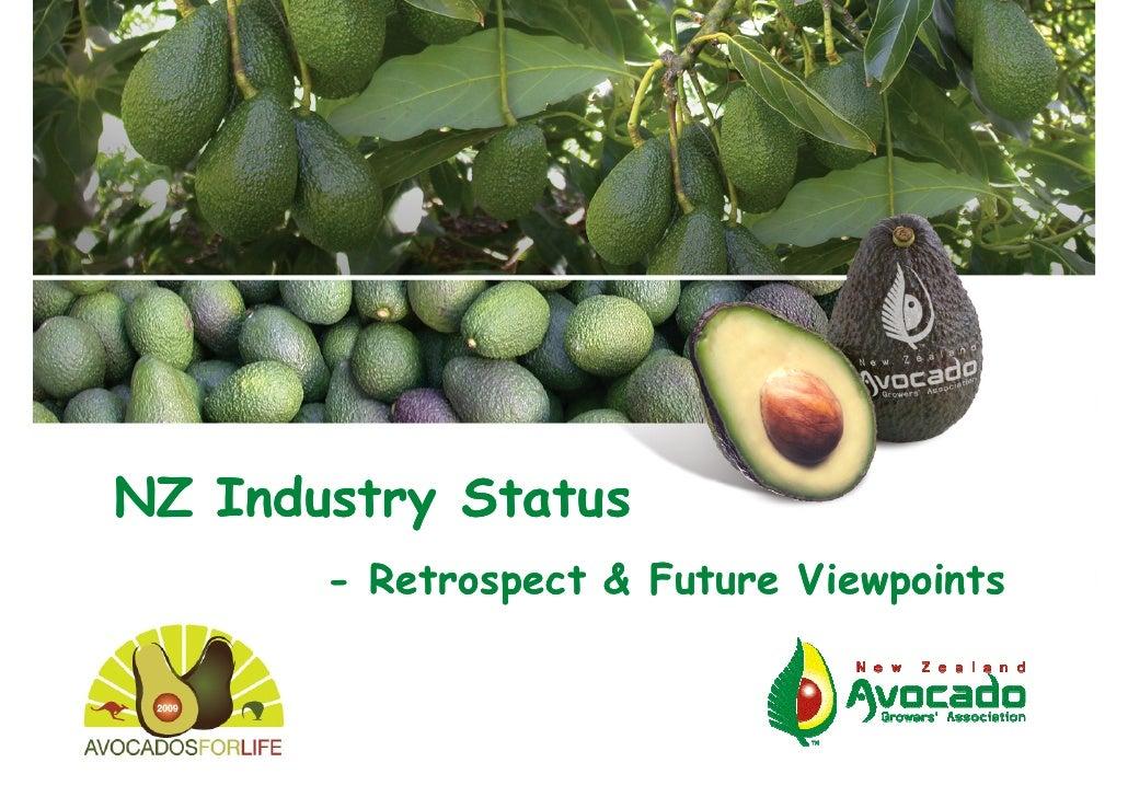 NZ Industry Status        - Retrospect & Future Viewpoints                                  ANZAGC09