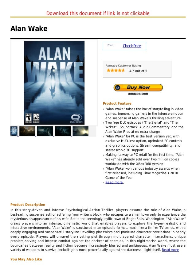 Download this document if link is not clickableAlan Wake                                                                Pr...