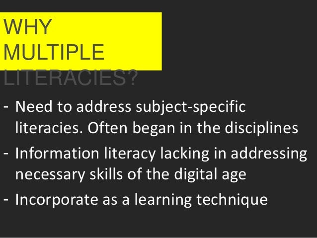 ALAO Instruction Interest Group Multiple Literarcies in One-shot Library Instruction Slide 2