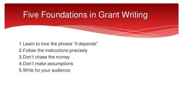 Federal grant writing