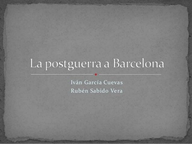 Iván García Cuevas Rubén Sabido Vera