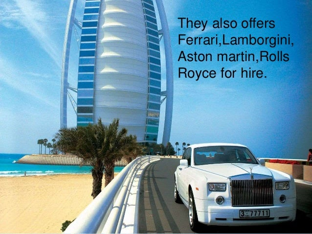 Rolls Royce For Hire >> Burj Al arab
