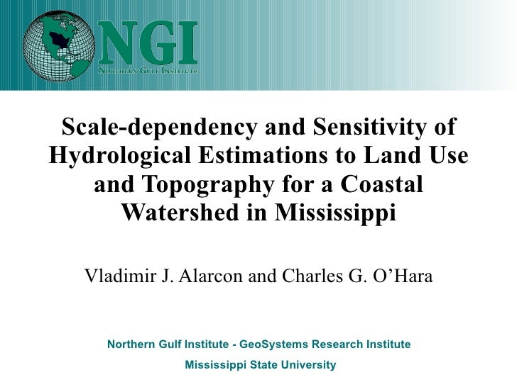 Scale-dependency and Sensitivity of Hydrological Estimations to Land Use and Topography for a Coastal Watershed in Mississ...