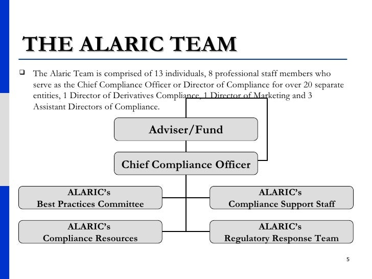THE ALARIC TEAM <ul><li>The Alaric Team is comprised of 13 individuals, 8 professional staff members who serve as the Chie...