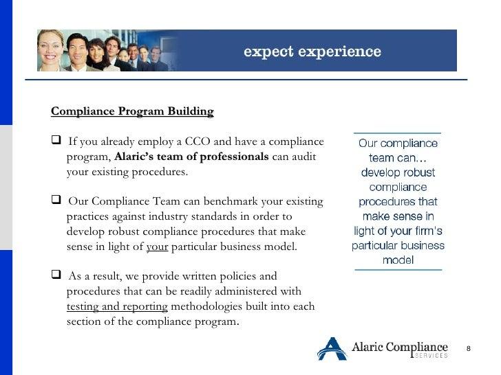 <ul><li>Compliance Program Building </li></ul><ul><li>If you already employ a CCO and have a compliance  </li></ul><ul><li...