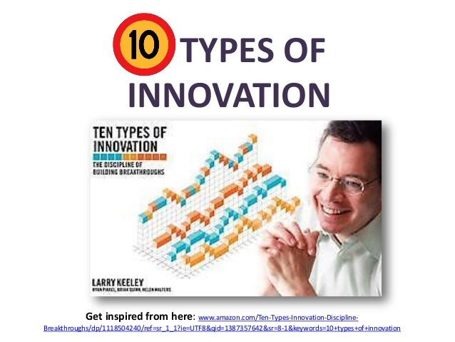 10 TYPES OF INNOVATION  Get inspired from here: www.amazon.com/Ten-Types-Innovation-DisciplineBreakthroughs/dp/1118504240/...