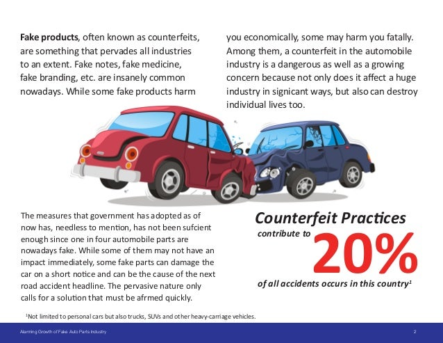 Counterfeits: The Alarming Growth Of The Fake Auto Parts Industry Slide 2