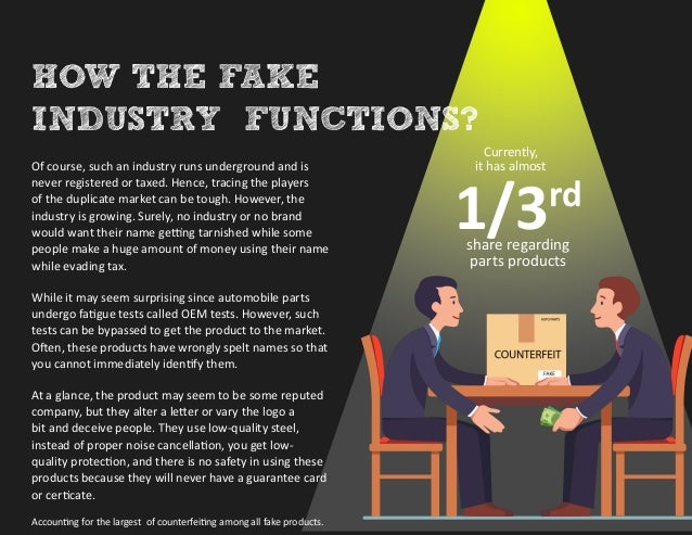 Counterfeits: The Alarming Growth Of The Fake Auto Parts Industry Slide 3
