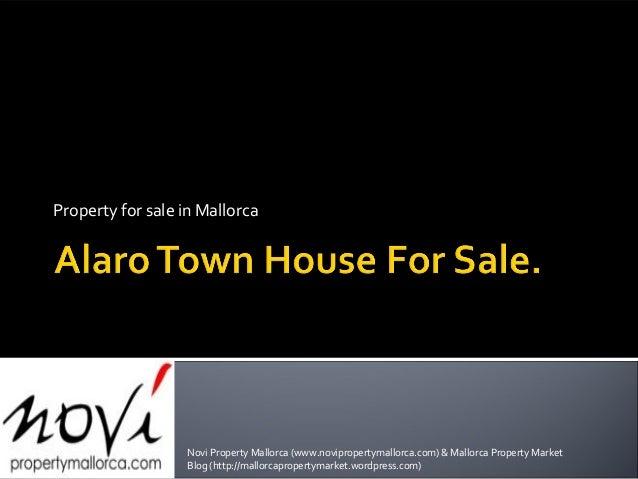 Property for sale in Mallorca Novi Property Mallorca (www.novipropertymallorca.com) & Mallorca Property Market Blog (http:...