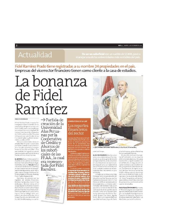 La Bonanza de Fidel Ramírez