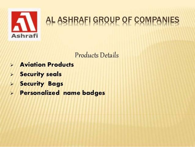 Al Ashrafi Group of Companies, UAE