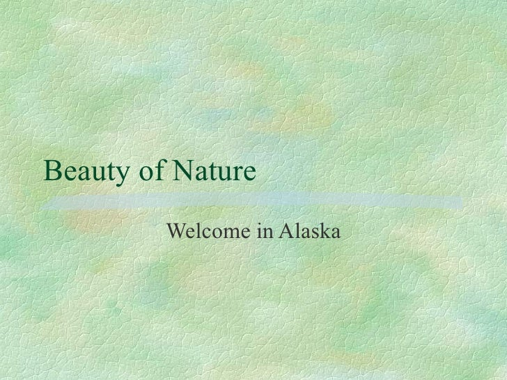 Beauty of Nature Welcome in Alaska