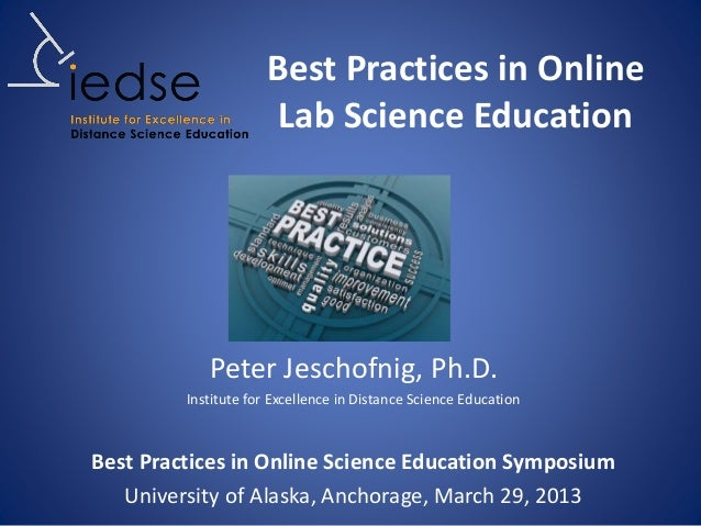 Best Practices In Online Lab Science Education