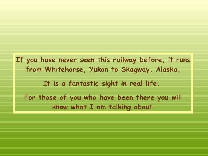 Alaska en tren Slide 2
