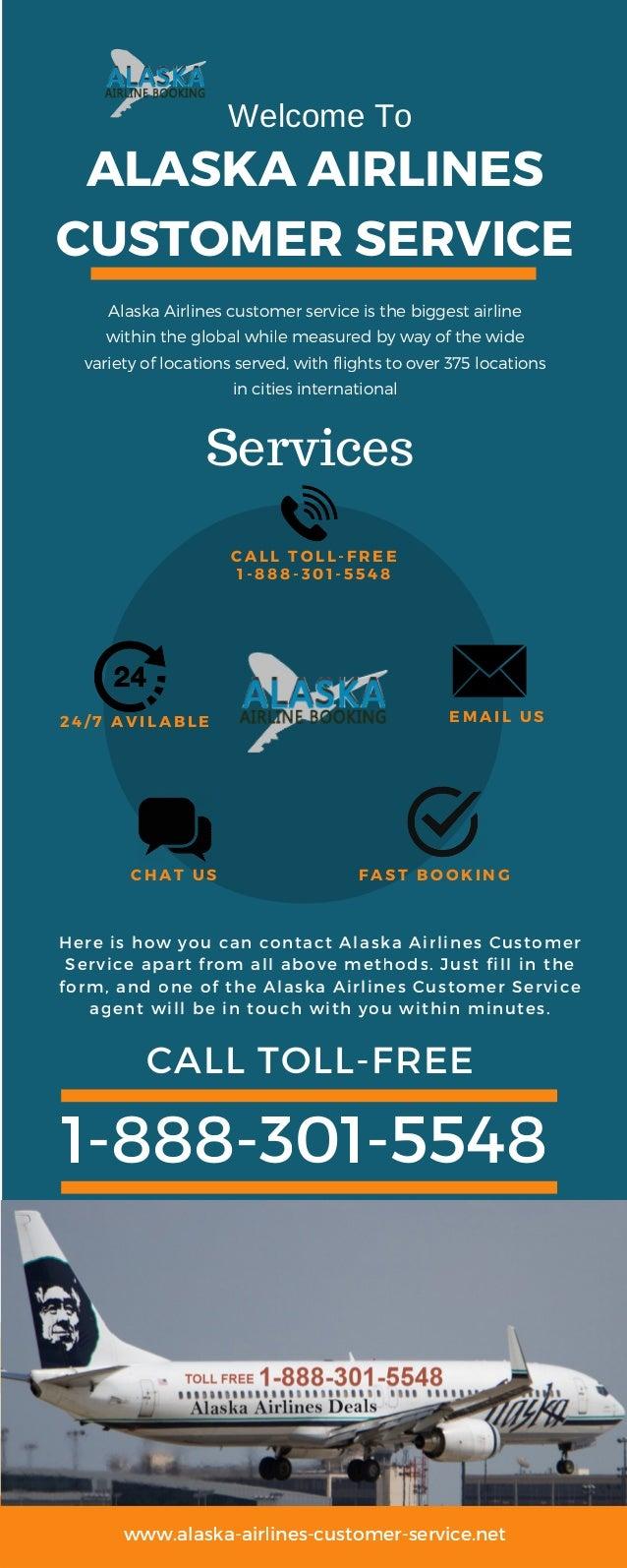 Alaska Airlines Customer Service Call Toll Free 1 888 301 5548