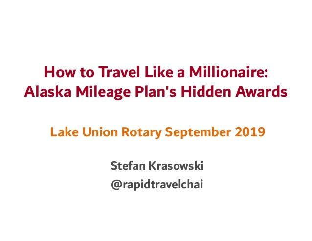 Alaska Airlines Mileage Plan Hidden Awards Slide 3