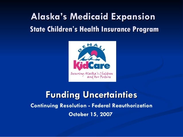 Alaska's Medicaid Expansion: State Children's Health Insurance Program