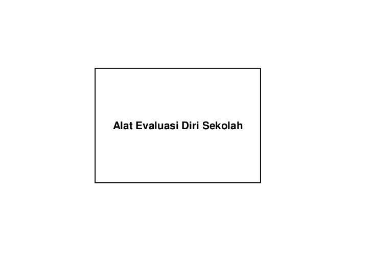 Instrumen Evaluasi Diri Sekolah (EDS)