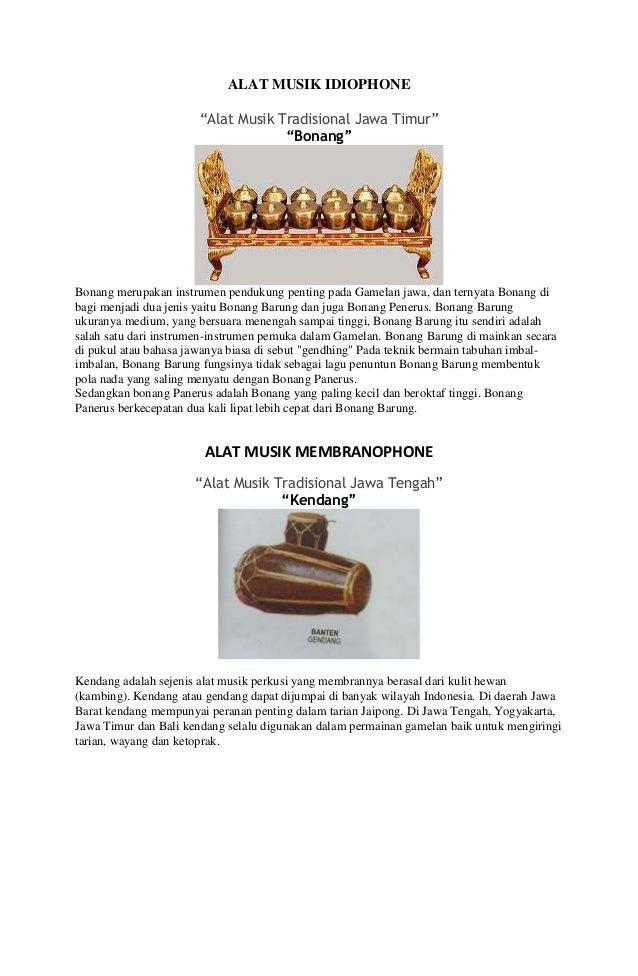 Alat Musik Idiofon Nusantara 4 Jenis