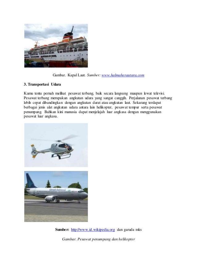 Alat Transportasi Laut Darat Dan Udara